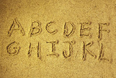Alphabet letters Stock Images