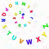 Alphabet letters. Colorful alphabet letters chaotically arranged Stock Photography