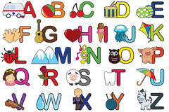 Alphabet letters Royalty Free Stock Image