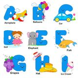 Alphabet letters stock illustration