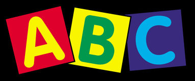 Alphabet letters. The first three letters of the alphabet - a,b,c Stock Photography