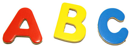 Alphabet Letters ABC Stock Image