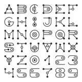 Alphabet Letters Based on Geometric Shape Elements. Stock Photography