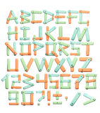 Alphabet - letters from a bright paper texture Royalty Free Stock Image