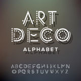 Alphabet letters collection, art deco style Royalty Free Stock Image