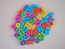 Alphabet letters Royalty Free Stock Photos