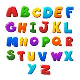 Alphabet letters. Alphabet colored letters on  a white  background Royalty Free Stock Photography