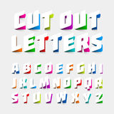 Alphabet letters cut out from paper Royalty Free Stock Photo