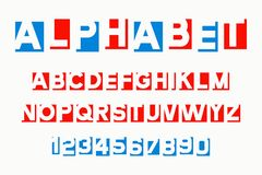Alphabet letters cut out from paper Royalty Free Stock Image