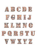 Alphabet letters 3D. Alphabet letters, isolated on white 3d reder Stock Photo