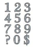 Alphabet letters 3D Stock Image