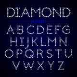 Alphabet letters from diamonds Royalty Free Stock Image