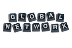 Alphabet Letters Global Network Concept. Royalty Free Stock Image