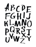 Alphabet letters. Hand drawn illustration by inc. Royalty Free Stock Photo