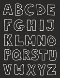 Alphabet letters hand drawn vector set isolated on Royalty Free Stock Image