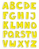 Alphabet letters hand drawn vector set  on white background Royalty Free Stock Photo