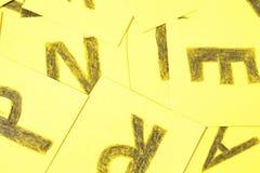 Alphabet letters handwrite background composition. Alphabet letters handwrite in a background stock photos