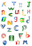 Alphabet letters and icons from A Royalty Free Stock Image