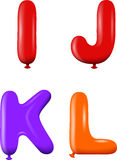Alphabet letters IJKL colors Royalty Free Stock Images