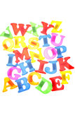 Alphabet letters illustration Royalty Free Stock Photos