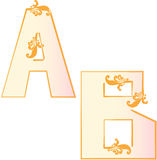 Alphabet letters. This image is a  illustration and can be scaled to any size without loss of resolution Royalty Free Stock Photos
