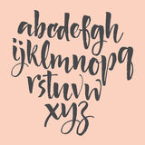 Alphabet letters: lowercase, uppercase, numbers. Vector alphabet. Hand drawn letters. Letters of the alphabet written with a soft Stock Photography
