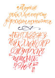 Alphabet letters: lowercase, uppercase, numbers. Vector alphabet. Royalty Free Stock Images