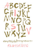 Alphabet letters lowercase, uppercase and numbers. Royalty Free Stock Images