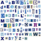 Alphabet letters made of newspaper, magazine Stock Image