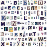 Alphabet letters made of newspaper Royalty Free Stock Image