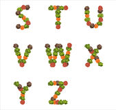 Alphabet letters made from vegetables Stock Image