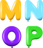 Alphabet letters MNOP colors Royalty Free Stock Photography