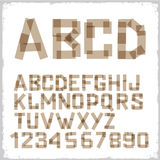 Alphabet letters and numbers Royalty Free Stock Photo