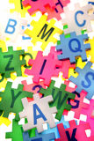 Alphabet letters and numbers Royalty Free Stock Photography