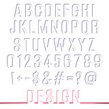 Alphabet letters and numbers  Vector set Stock Photos