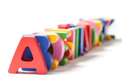 Alphabet Letters One Behind The Other Royalty Free Stock Photography