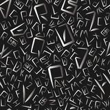 Alphabet letters seemless pattern Royalty Free Stock Photos