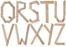 Alphabet of letters of slate stones Royalty Free Stock Image