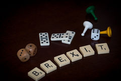 Alphabet letters spell out `BREXIT` royalty free stock photography