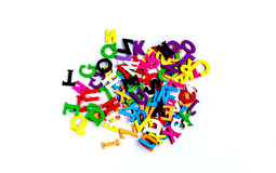 Alphabet letters for starters learn English. Stock Photography