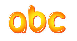 Alphabet letters in sun colors Royalty Free Stock Images
