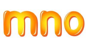 Alphabet letters in sun colors Stock Photos
