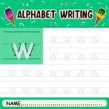 Alphabet writing royalty free stock image