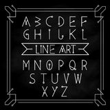 Alphabet letters vector set modern vintage Royalty Free Stock Photography