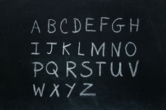 Alphabet letters written in chalk Royalty Free Stock Image