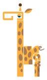 Alphabet Lettre G Figure d'une girafe composée des lettres Photographie stock libre de droits