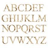 Alphabet Lettres anglaises réglées Photos stock