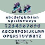Alphabet Lettres et vecteur réglé par nombres formé par les discriminations raciales illustration de vecteur