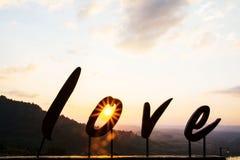 Alphabet ` Liebe ` Lizenzfreies Stockbild