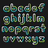 Alphabet line transparent color font style. Royalty Free Stock Images